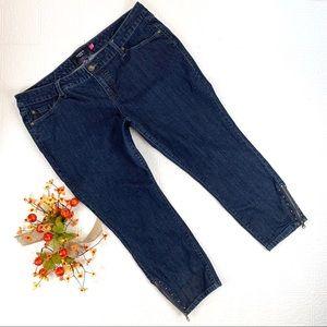 Torrid Cropped Dark Wash Zipper Ankle Jeans SZ 18